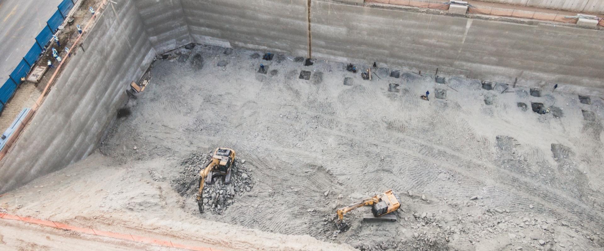 Bulk  Excavation for Basement Construction of Nedbank Head Office